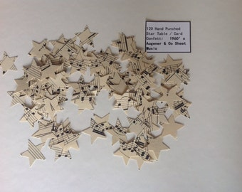Confetti - HandPunched Star Sheet Music from Augener & Co 1960's 120pcs