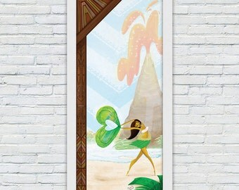 Polynesian Tiki Wall Decor, Disney Lover Gift, Disney Tiki Room Art, Polynesian Decor, Polynesian Resort Wall Art, Tiki Decor, Tiki Art