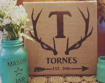 Burlap Custom Sign
