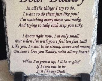 Dear daddy photo slate.