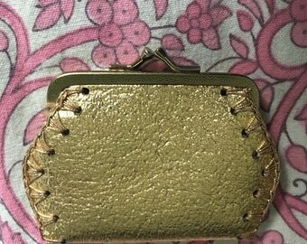 Gold Lamé Coin Purse