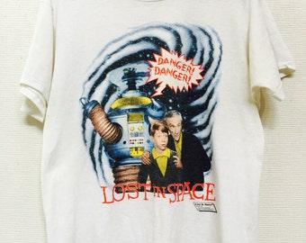 1985 LOST IN SPACE Danger! Danger! Vintage T Shirt Cbs // Size Large