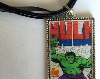 Comic Book Hulk Necklace/ Marvel