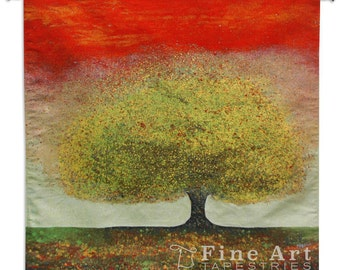 Dreaming Tree Red Wall Tapestry - SKU: 7085-WH