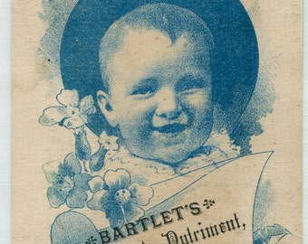 Victorian Trade Card...BARTLET'S PEPSINATED NUTRIMENT...Boston