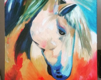 Antithesis - horse painting, oil on canvas