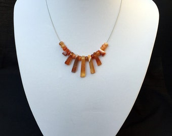 Red Line Agate Necklace