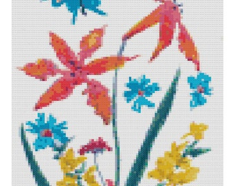 Whimsical Butterfly Cross Stitch Chart PDF Download