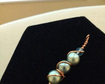 Pearl Stack Copper Pendant