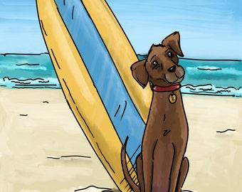 Pet portrait commission & Print