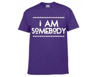 I AM SOMEBODY - purple adult