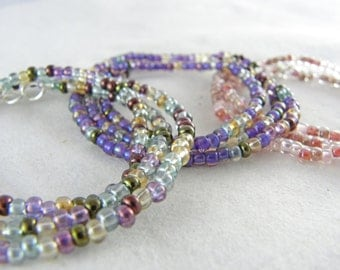 Glass Seed Bead Wrap Bracelets