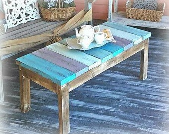Coastal Cottage Bench Coffee table