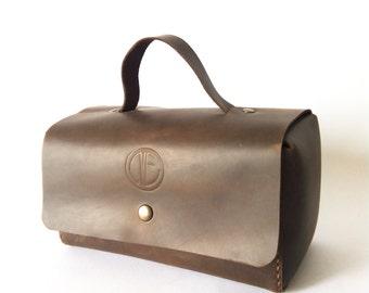Men's road beautician - Dressing case - Men's toiletry bag - Men's bag for travel - Mens Cosmetic Bag - Shaving Bag - Groomsman Gift