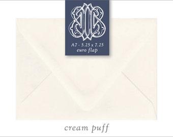 Creme Puff | 10 Blank A7 Euro Envelopes