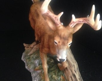 Masterpiece porcelain white tailed deer