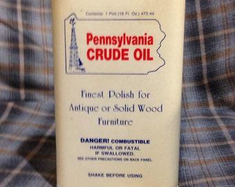 Vintage Pa. Crude Oil furniture polish Pgh Pa 15235 Collectible tin