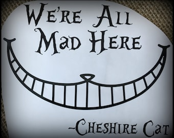 Cheshire Cat Inspired Decal