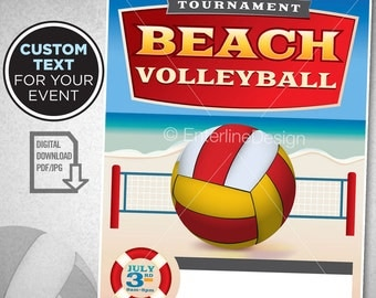 Volleyball Invite Etsy