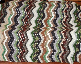 Forest Ripple Afghan