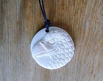 bone eagle head necklace