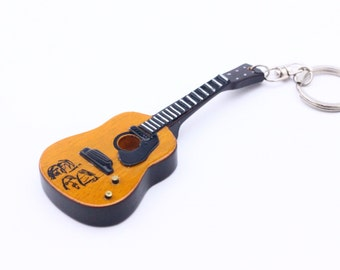 John Lennon Beatles Replica Guitar Keyring