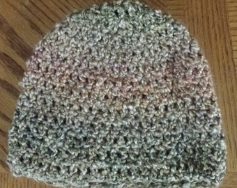 Crochet Hat / Crochet Beanie / Warm and Soft / Beautiful Earth Tones