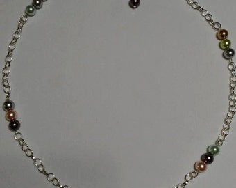 Dewdrop Pastel and Silver Links #63