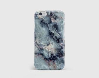Electric Blue Marble iPhone Case, Marble Print, Marble Pattern, Marble Rock, Phone Case Cover, iPhone 7 iPhone 6 iPhone 5 \ hc-pp044