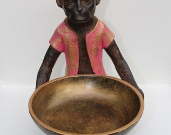 Hand Painted Monkey Bowl