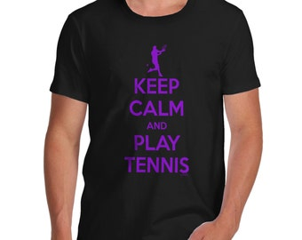 Men's Keep Calm And Play Tennis T-Shirt