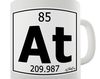 Periodic Table Of Elements At Astatine Ceramic Mug