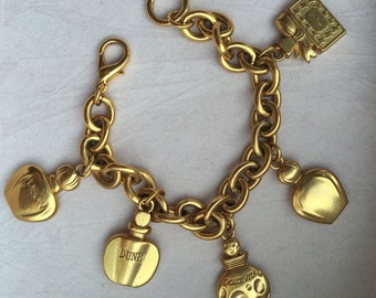 Original Christian Dior vintage perfume Flacon charm bracelet/bracelet