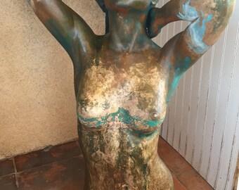 "David E Parvin Bronze Full Body Sculpture ""Britton"" Artist Proof"