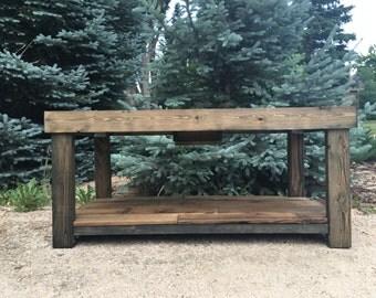 Reclaimed Cedar Barnwood Table