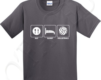 eat sleep volleyball crew neck t shirts for kid eat sleep volleyball kids t shirt - Volleyball T Shirt Design Ideas