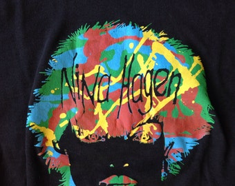 Extremely rare vintage early 80's punk rock Nina Hagen woman t shirt