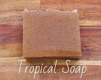 SOAP- Tropical Soap - Pineapple & Lemon Soap, Natural soap, Organic soap, Vegan soap, Jewish soap, Artisan soap, Handmade soap