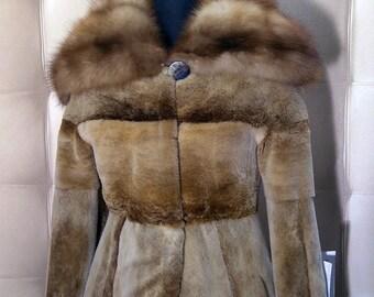 Beaver Fur Jacket with Stone Marten Collar