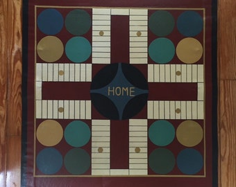 Parcheesi Board Floor Cloth