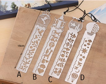 4pcs ruler bookmark stencil bookmark metal bookmark planner ruler stationery book lovers gift bookworm book accessories craft supplies books