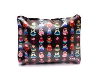 Babushka Cosmetic Bag Makeup Travel Toiletries Case Waterproof Large Travel Bags