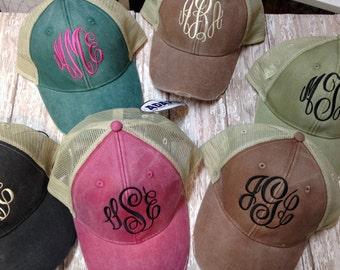 Baseball style personalized hats