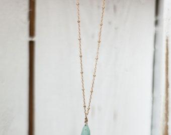 Briolette gold filled necklace