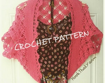 Crochet Pattern Criss Cross shrug with written pattern throw cardigan sweater