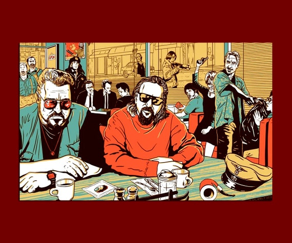Neo Noir Movies: The Big Lebowski Neo-Noir Crime Comedy Film Large By