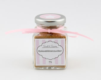 Coconut blossom sugar 65 g, coconut blossom sugar, sugar - ideal as a gift or souvenir for you