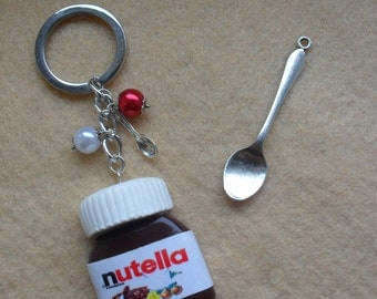 Keychain nutella fimo