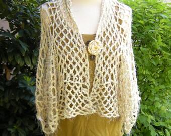 Bolero jacket jacket crochet crochet jacket reversible jacket size 36-40.