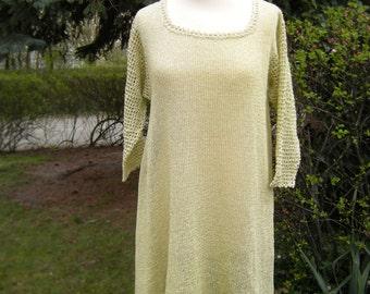 Tunic dress knitted tunic asymmetry, size 42-44